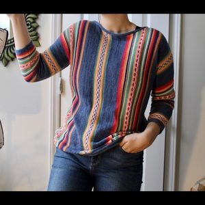 💥💥Multicolored verticals striped Chaps sweater